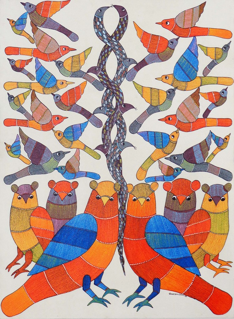 Kaushal Prasad, Gond Tribal Painting